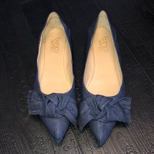 Franco Sarto Ballet Flats Denim Blue Size 8